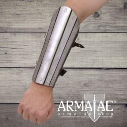 Armstulpe Stahl | Leder