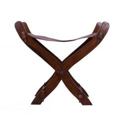 Scherenstuhl aus Rosenholz