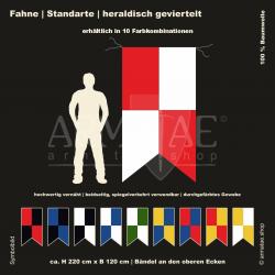 Fahne 2-farbig heraldisch...