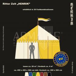 Zelt-Set 4,5 x 4,5 m Henrik