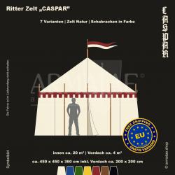 Zelt-Set 4,5 x 4,5 m Kaspar