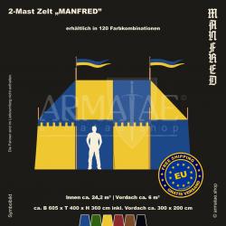 Zelt-Set 6 x 4 m Manfred