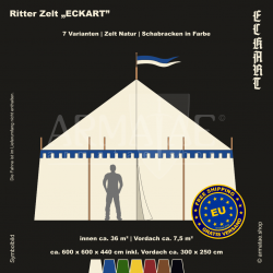 Zelt-Set 6 x 6 m Eckart