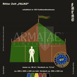 Zelt-Set 6 x 6 m Falko