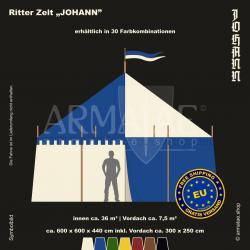 Zelt-Set 6 x 6 m Johann