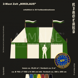 Zelt-Set 7 x 5 m Nikolaus