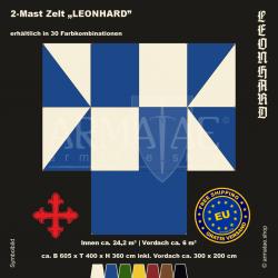 Zelt-Set 6 x 4 m Leonhard-plus