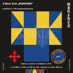 Zelt-Set 6 x 4 m Manfred-plus