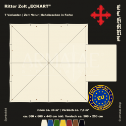 Zelt-Set 6 x 6 m Eckart-plus