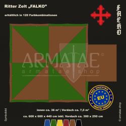 Zelt-Set 6 x 6 m Falko-plus