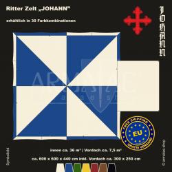 Zelt-Set 6 x 6 m Johann-plus