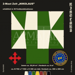 Zelt-Set 7 x 5 m Nikolaus-plus