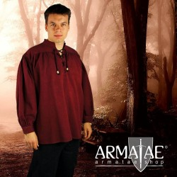 Meliertes Hemd Georg Rot