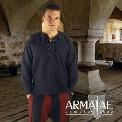Renaissance Hemd Athos Schwarz