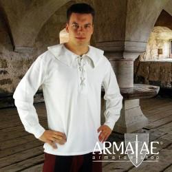 Renaissance Hemd Athos Weiß