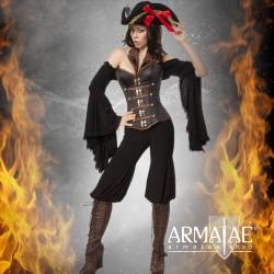 ☠️ Kostüm Set Taffe Piratin