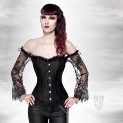 Gothic Corsage mit Ärmel...