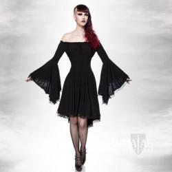Kleid mit Tompetenärmel...